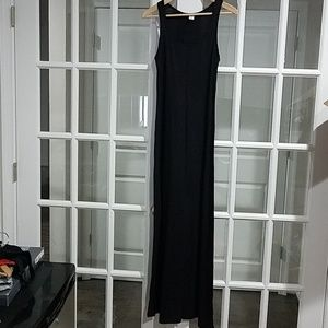 Old Navy Basic Black Maxi Dress